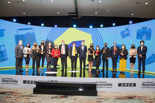 Estos son los gandores de la edición número 21 del Premio Fasecolda al Periodismo de Seguros.